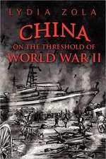 China on the Threshold of World War II