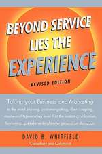 Beyond Service Lies the Experience Revised Edition