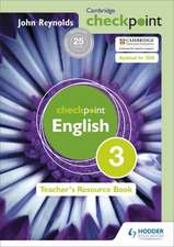 Cambridge Checkpoint English Teacher's Resource Book 3