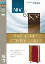 NIV/KJV Parallel Study Bible Amber/Rich Red Duo Tone