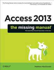 Access 2013 – The Missing Manual