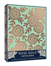 Rose Gold Notecards:  12 Foil-Stamped Cards & Envelopes