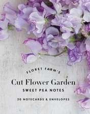 Floret Farm's Cut Flower Garden: Sweet Pea Notes: 20 Notecards & Envelopes (Gifts for Floral Designers, Floral Thank You Cards, Floral Note Cards)