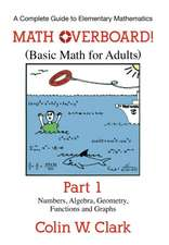 Math Overboard! (Basic Math for Adults):  Numbers, Algebra, Geometry, Functions, and Graphs