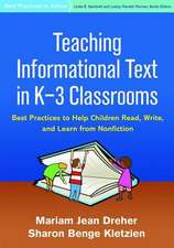 Teaching Informational Text in K-3 Classrooms
