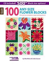 100 Any-Size Flower Blocks [With CDROM]:  Best of Sew News