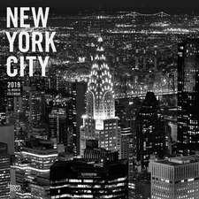 New York City Black & White 2019 Square Wall Calendar