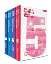 The Great European Stage Directors Set 2: Volumes 5-8: Post-1950