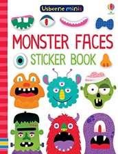 MINIS MONSTER FACES STICKER BOOK