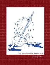 Frog Sweating While Playing Cello Music Notebook