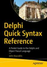 Delphi Quick Syntax Reference