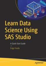 Learn Data Science Using SAS Studio