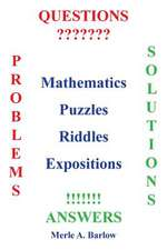 Mathematics, Puzzles, Riddles, Expositions