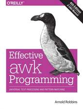 Effective AWK Programming, 4e
