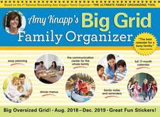 2019 Amy Knapp's Big Grid Family Organizer Wall Calendar