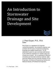An Introdution to Stormwater Drainage and Site Development