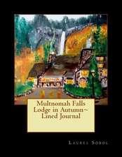 Multnomah Falls Lodge in Autumn Lined Journal