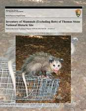 Inventory of Mammals (Excluding Bats) of Thomas Stone National Historic Site