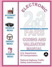 Electronic 2003, Fars Coding and Validation Manual