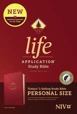 NIV Life Application Study Bible, Third Edition, Personal Size (Leatherlike, Berry, Indexed)