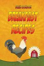 Blank Cookbook Breakfast Recipes
