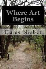 Where Art Begins