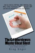 The C# Interviewers Master Cheat Sheet