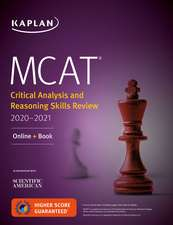 MCAT Critical Analysis and Reasoning Skills Review 2020-2021: Online + Book