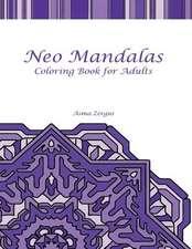 Neo Mandalas Adult Coloring Book