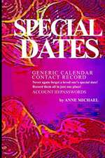 Special Dates Generic Calendar Contact Record