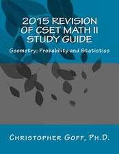 2015 Revision of Cset Math II