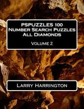Pspuzzles 100 Number Search Puzzles All Diamonds Volume 2