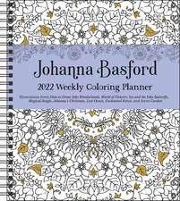 Johanna Basford 2022 Coloring Weekly Planner Calendar