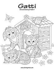 Gatti Libro Da Colorare Per Adulti 1