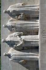 Statues on Reformation Wall in Geneva Switzerland Journal