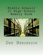 Middle School/Jr High School Memory Book