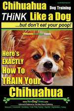 Chihuahua Dog Training - Think Like a Dog...But Don't Eat Your Poop!