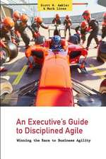 An Executive's Guide to Disciplined Agile