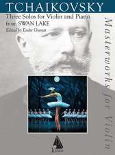 Swan Lake: Three Solos from the Ballet for Violin and Piano