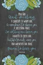 Chalkboard Journal - Irish Blessing (Mixed Blue)