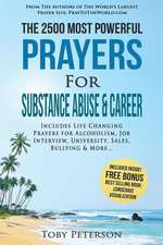 Prayer the 2500 Most Powerful Prayers for Substance Abuse & Career