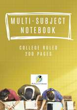 Multi-Subject Notebook College Ruled 200 Pages