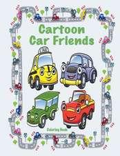 Cartoon Car Friends Coloring Book