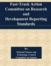Fast-Track Action Committee on Research and Development Reporting Standards