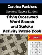 Carolina Panthers Trivia Crossword, Wordsearch and Sudoku Activity Puzzle Book