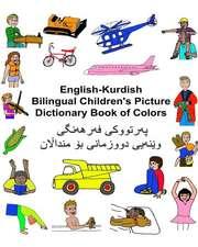 English-Kurdish Bilingual Children's Picture Dictionary Book of Colors