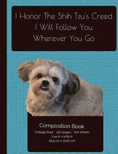 Smiling Shih Tzu - Follow You Wherever You Go Composition Notebook