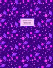 Square Grid Journal, Graph Paper Notebook - Celestial Purple Pink