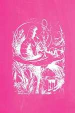 Alice in Wonderland Pastel Chalkboard Journal - Alice and the Caterpillar (Pink)