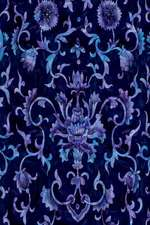 Journal Blue Floral Vintage Damask Pattern Design